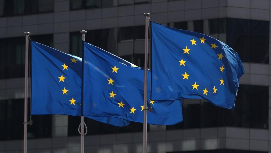 Warszawa Flaga Unia Europejska